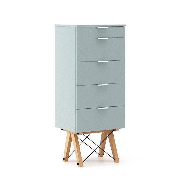 Komoda tall z szufladami od Minko jasno niebieska