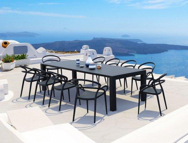 Krzesło Mila oraz Vegas table XLSiesta o pięknym designerskim kształcie