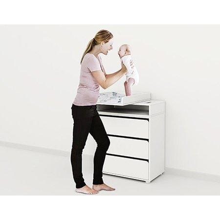 Komoda z 3 szufladami oraz przewijakiem Flexa Baby