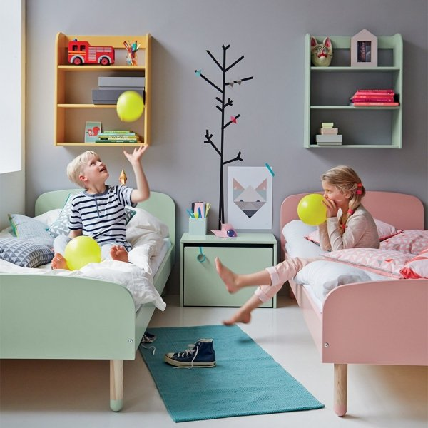 Regał z półkami Flexa Play żółty