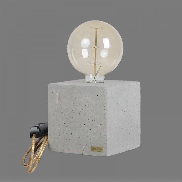 Lampka Edosin Cube ze złotym kablem