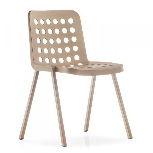 Krzesła kuchenne o metalowej ramie