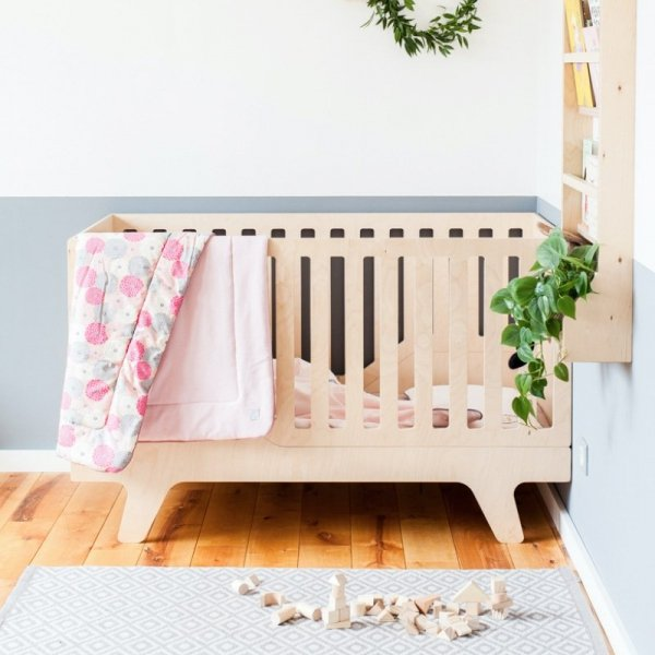 Stylowe łóżeczko dziecięce 3w1 ze sklejki brzozowej Dream
