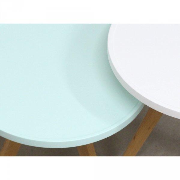 stolik okrągły w stylu skandynawskim