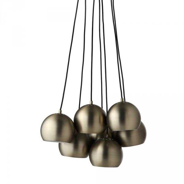 Ball multi lampa wisząca marki Frandsen w kolorze antyczny mosiądz