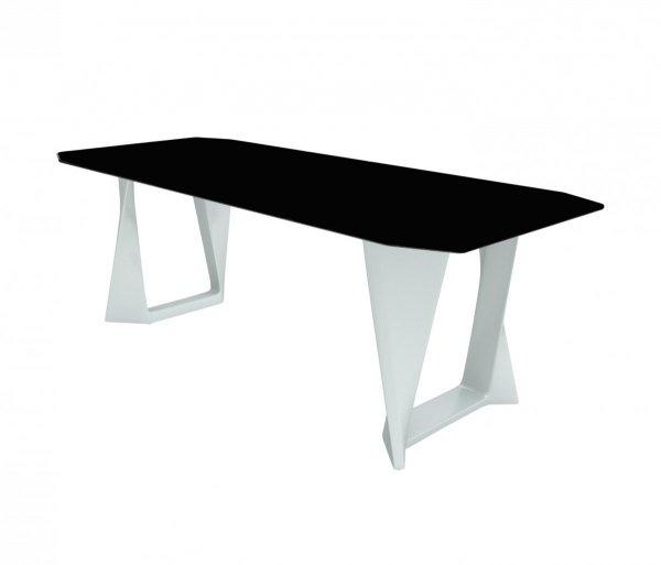 ISO piękny modernistyczny stół z blatem HPL czarnym