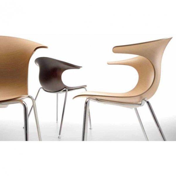Krzesło Loop 3d na drewnianych nogach Infiniti