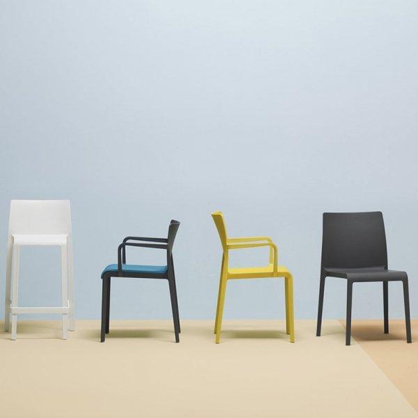 Stylowe krzesła marki Pedrali z serii Volt to nowa klasyka