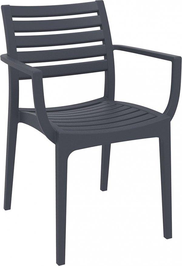 Krzesło Artemis Siesta ciemny szary