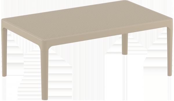 Stolik SKY Lounge Siesta z tworzywa taupe