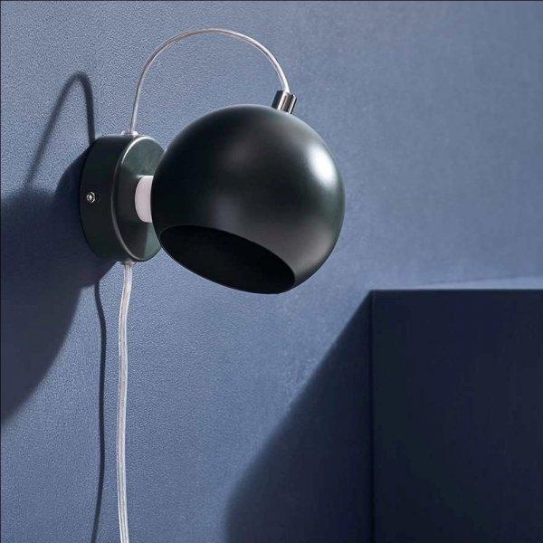 Kinkiet ball wall ciemnozielony Frandsen