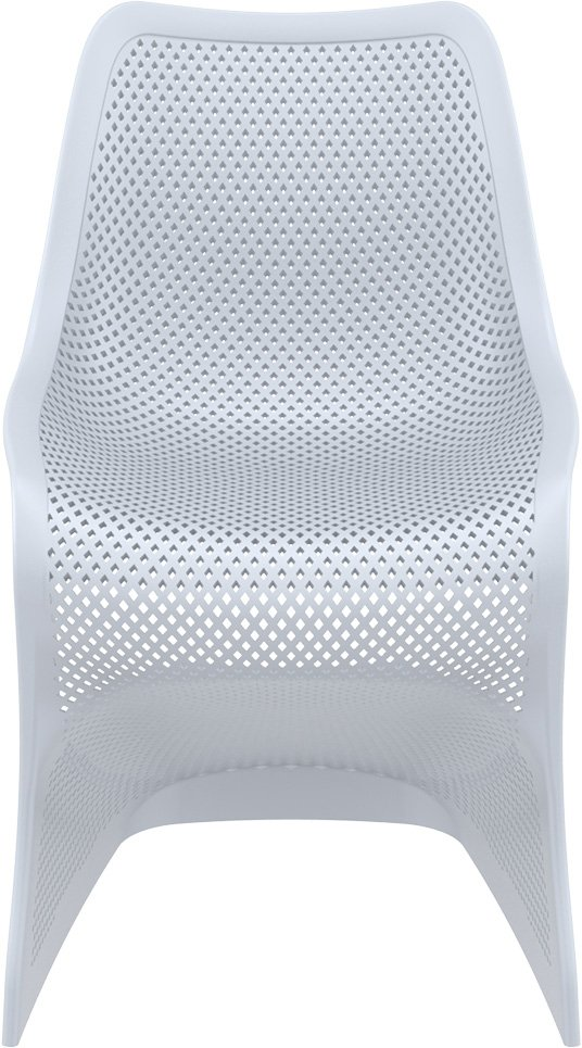 Krzesło Bloom Siesta z tworzywa jasny szary
