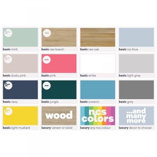 Szafka na buty Minko Basic kolory