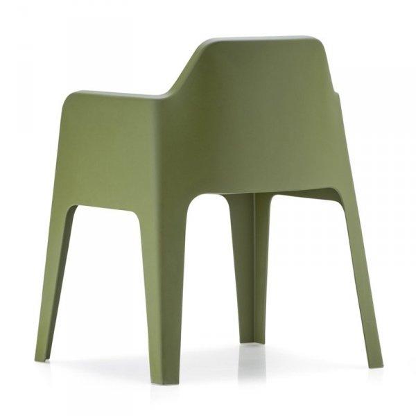 Designerski fotel z tworzywa Plus 630 Pedrali zielony