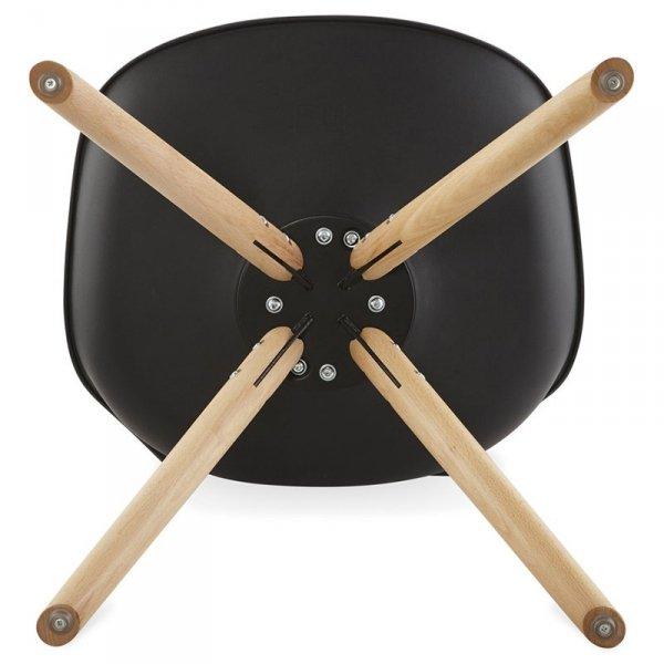 Tolik krzesło w stylu skandynawskim czarne