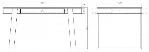 Stół Mały 140x80x75 Magh Absynth