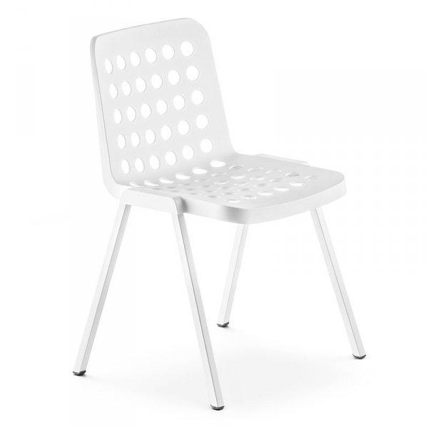 Nowoczesne krzesło Pedrali Koi-Booki 370 Białe
