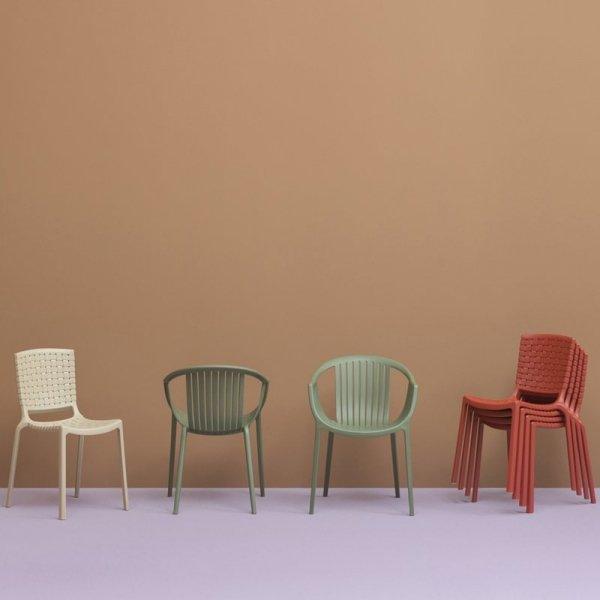 Stylowe krzesła z rodziny Tatami Pedrali