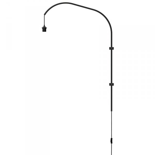 Pojedyncze ramię do lampy ściennej Willow Single czarne