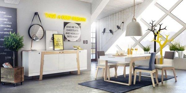 Stół Magh Absynth mały 75x80x140 cm do nowoczesnych wnętrz w stylu skandynawskim