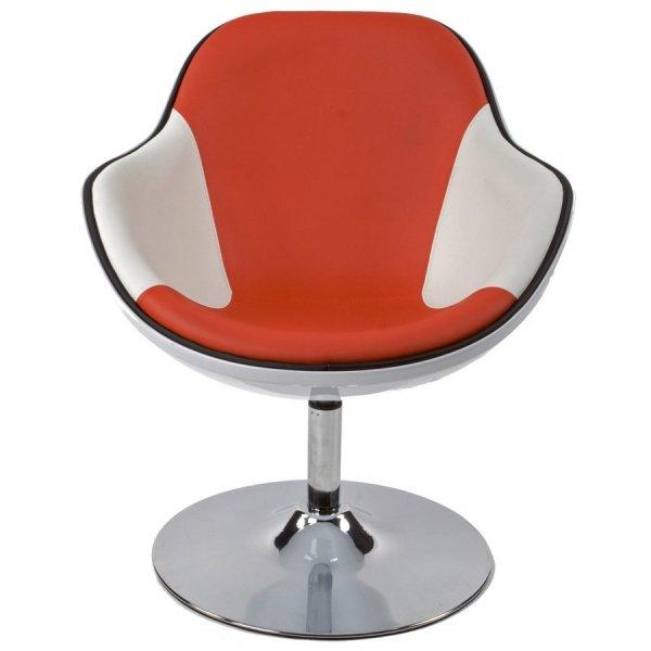 Daytona stylowy fotel obrotowy Biało-Czerwony
