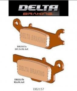 Klocki hamulcowe Delta DB 2157 Yamaha Grizzly 550, 700, Raptor 250