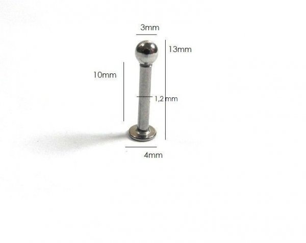 Męski piercing kolczyk do chrząstki (10mm) Estilo Sabroso Es0528