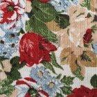 Lniane tkaniny na tapicerkę SL 27 roses white
