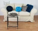 Sofa z wymiennym pokrowcem Federica 170 cm z funkcją spania