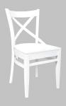 Krzesło w stylu prowansalskim białe VENICE
