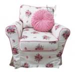 Fotel w duże bukiety kwiatów Marie