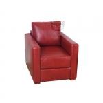 Czerwony skórzany fotel Sirius