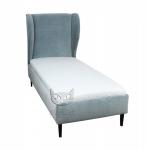 Jednoosobowe łóżko z wysokim wezgłowiem 120x200 cm- Frou Frou