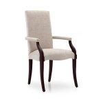 Stylizowane z podłokietnikami nowoczesne krzesło Luna