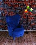 Stylizowany fotel z wysokim oparciem- Frou Frou