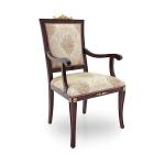 Krzesło z podłokietnikami i prostym oparciem Lorena