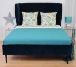 Duże łóżko wysoki zagłówek CAVALDO