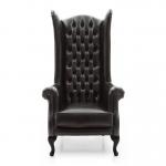 Fotel stylizowany bardzo wysokie oparcie Old England