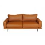 Nierozkładana sofa w skórze naturalnej Carlton