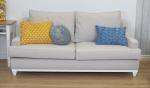 Szeroka kanapa nierozkładana tkanina plamoodporna Lukrecja 215 cm