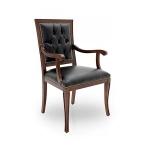Klasyczne krzesło z podłokietnikami do gabinetu Amelia