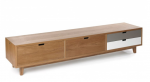 Drewniany stolik rtv w stylu Scandi Elise