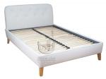 Łóżko w stylu retro pikowane wezgłowie Bergaya 140x200 cm