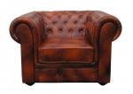 Fotel w cieniowanej skórze naturalnej Chesterfield Classic