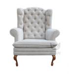 Fotel z wysokim, pikowanym oparciem Fotel Królewski