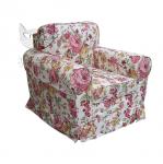 Fotel z niskim oparciem w kwiaty Flower