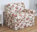 Sofa dla dziecka spanie pojemnik zdejmowany pokrowiec Flower 110 cm/FS