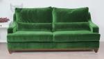 Kanapa do salonu vintage soczysta zieleń Lukrecja 215 cm/FS