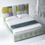 Designerskie tapicerowane łóżko Decorato