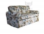 Sofa w kwiatowej tkaninie nierozkladana Marie 166 cm